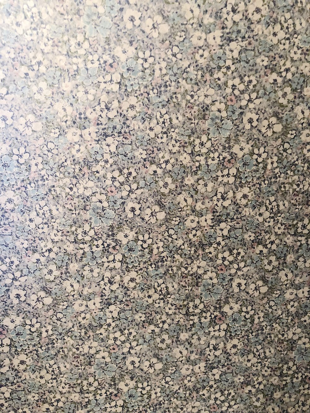 the beautiful hallway wallpaper.