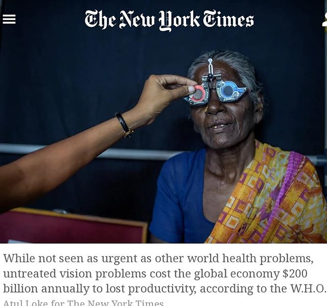Great article about the immense need for eyecare worldwide. Did you know Dr. Packer participates in a medical mission trip EVERY YEAR to provide free services to those in need. Recent trips included Ecuador, Peru, Mexico. Your support of our office funds these trips, so thank you for that!  https://mobile.nytimes.com/2018/05/05/health/glasses-developing-world-global-health.html
