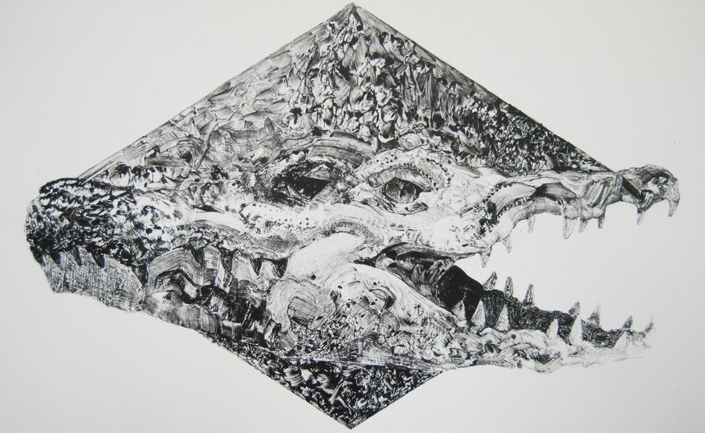 Croc Diamond, lithograph.