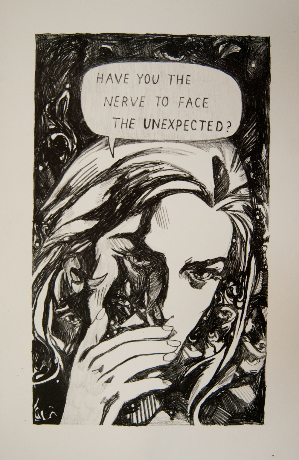 Have You the Nerve?, lithograph.