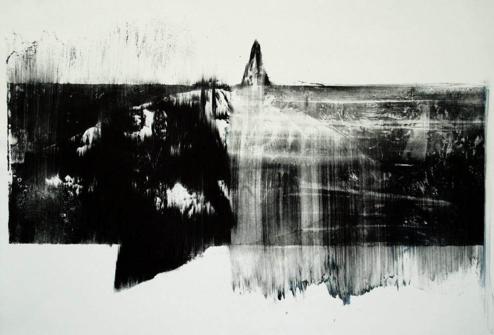 Shark, lithograph on polyester plate.