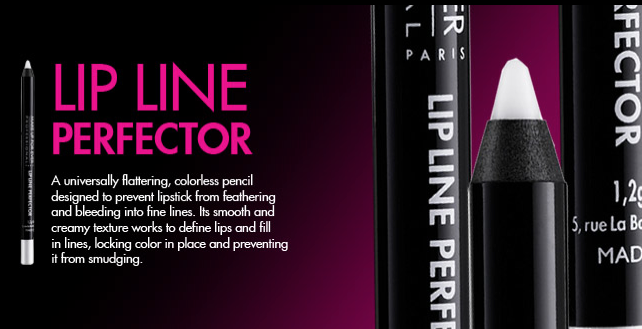 Looking forward to checking out this new product from Makeup Forever: the Lip Line Perfector.  This new product promises to help prevent lipstick from bleeding or feathering… this will be great for my brides and photo shoots!