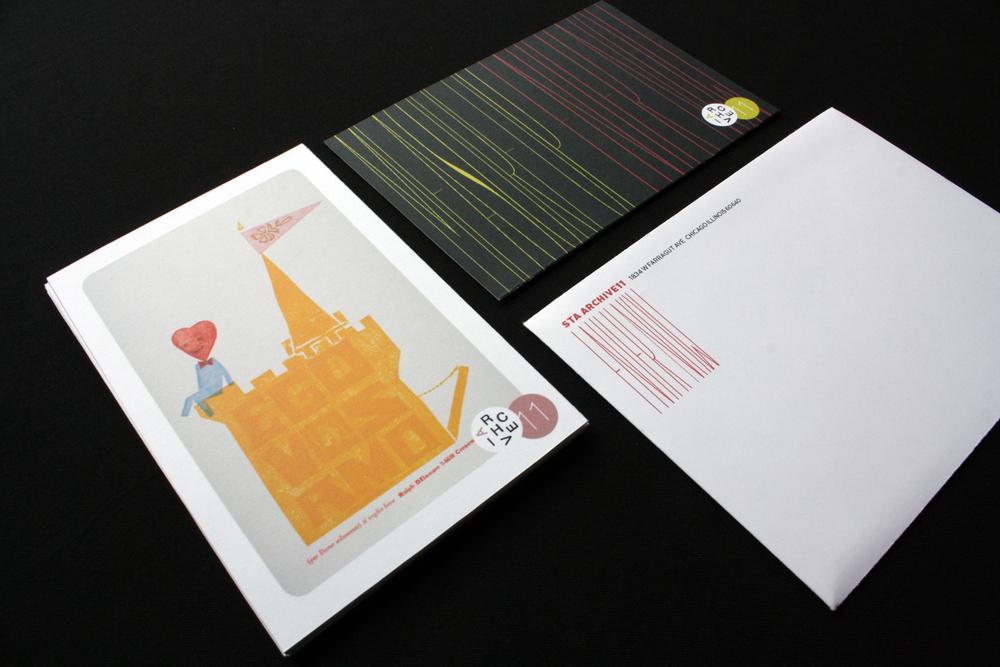 Designer baseball card package.