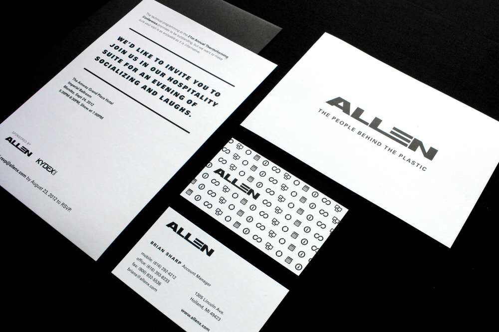 Allen extruders emily cowdrey formal invitation services brochure amp business cards reheart Gallery
