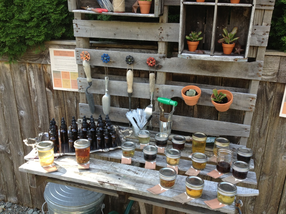 DIY bitters bar in the garden (iphone pic)