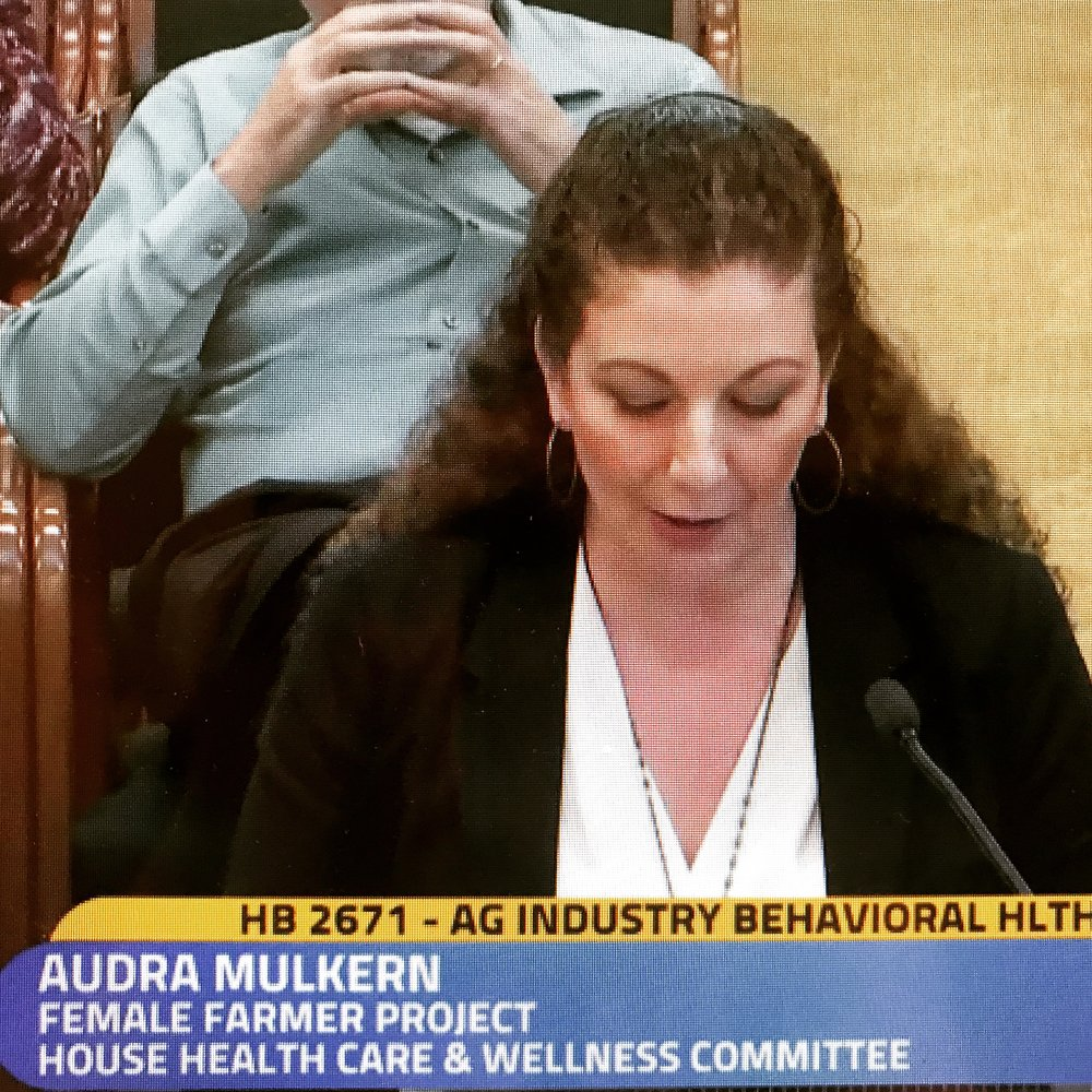 Video testimony by Audra begins at 55:14