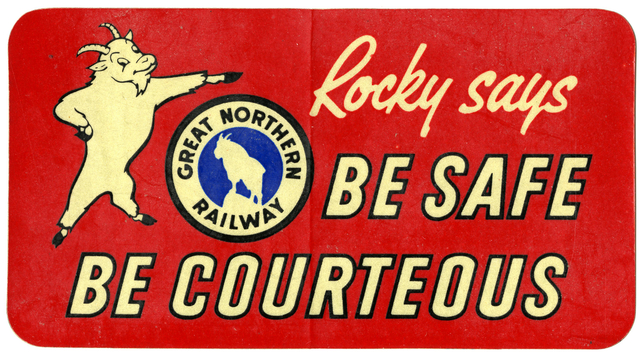 1950 Great Northern Sticker