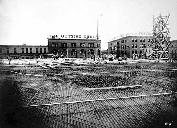 1911 Construction of Finch, Van Slyck and McConville Building Lowertown.jpg