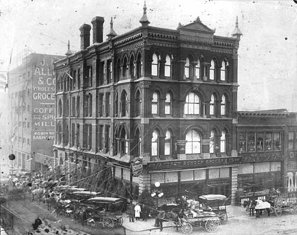 1912 Andrew Schoch Grocery, Seventh and Broadway Lowertown.jpg