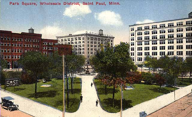 1915 Smith Park showing Park Square wholesale district Lowertown.jpg