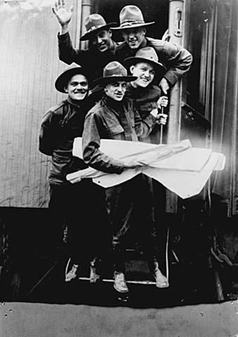 1936 Minnesota Troops Leaving Union Depot - Lowertown Saint Paul.jpg