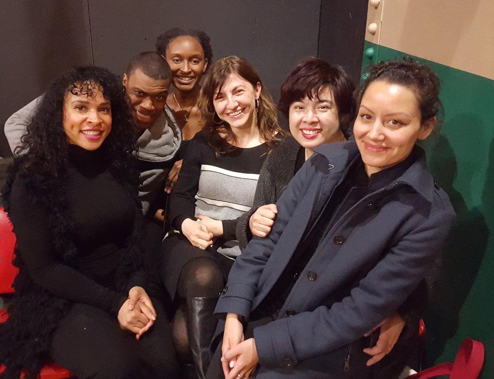 L to R:Brooke Leigh Howard, Carl Steele, Dianne Diep, Lynae DePriest, Kat Mustatea, Tigist Helen Schmidt