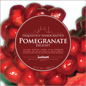 Pomegranate 250 gram packs of one of the earliest flavours written about. The Pomegranate is native to old Persia and we use a Juice concentrate from Lebanon to flavour this soft, sweet offering. The Pomegranate is eaten in similar fashion to a Passion Fruit - only the seeds - and the delicate fruity flavour is followed by a very distinctive tart aftertaste which will continue to stimulate the saliva glands for some time. Buy online   /   Find stockist