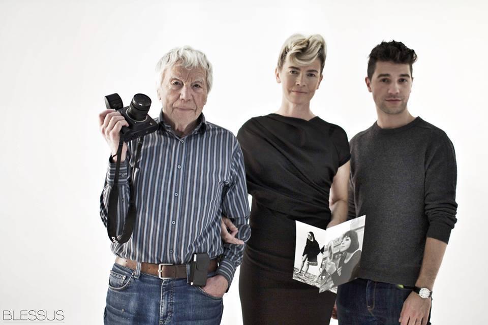 Tadeusz Rolke, Lidia Popiel i Michael Hekmat na planie sesji zdjęciowej, fot. Anna Hekmat