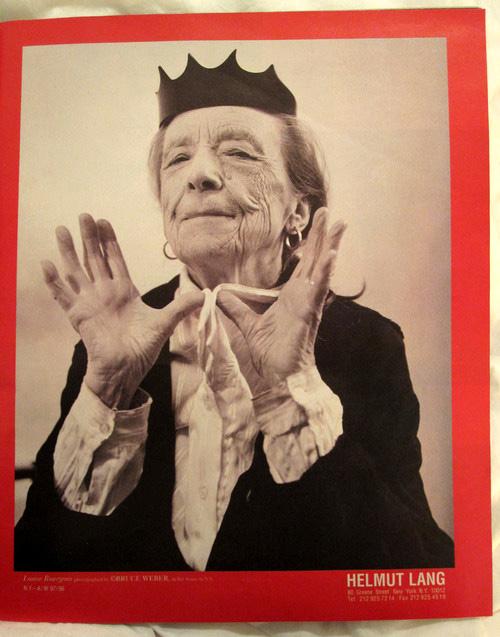Louise Bourgeois, amerykańska rzeźbiarka w kampanii Helmuta Langa 1997 rok