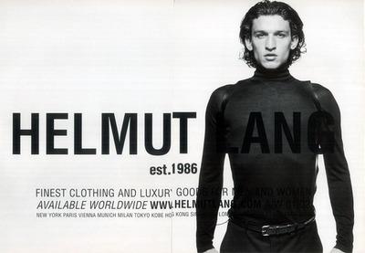 mat. promocyjne Helmut Lang