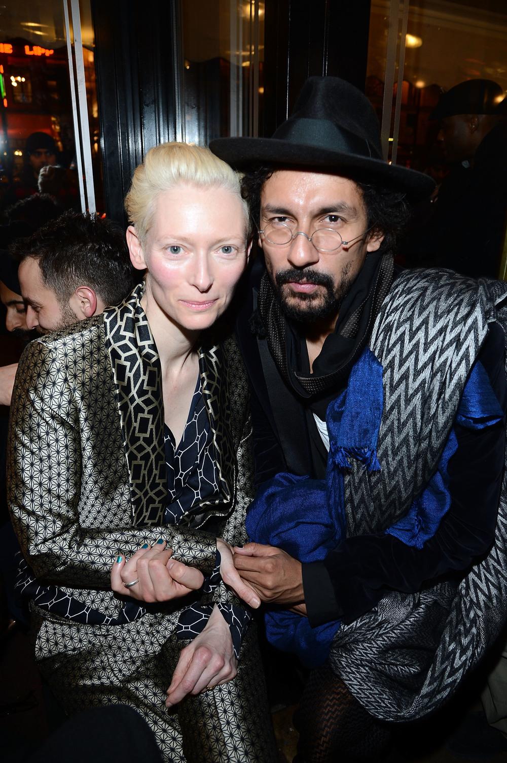 Tilda Swinton i Haider Ackerman/fot. Getty Images Entertainment/Flash Press Media