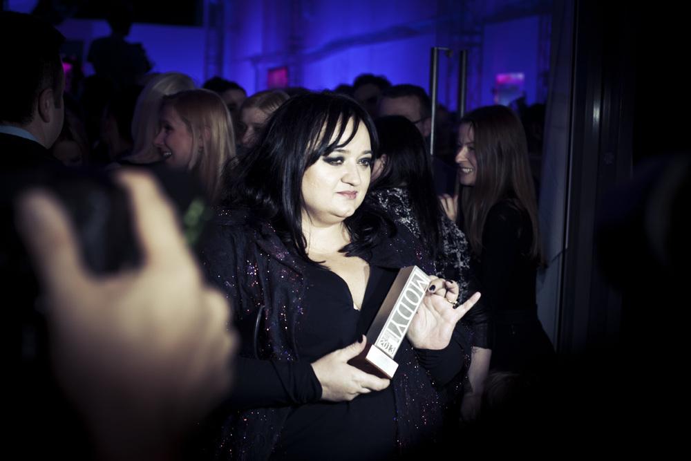 Gosia Baczyńska odebrała nagrodę dla Projektantki 15-lecia podczas konkursu Doskonałość Mody             /fot. Agnieszka Taukert/Backbone dla Do You Know Fashion
