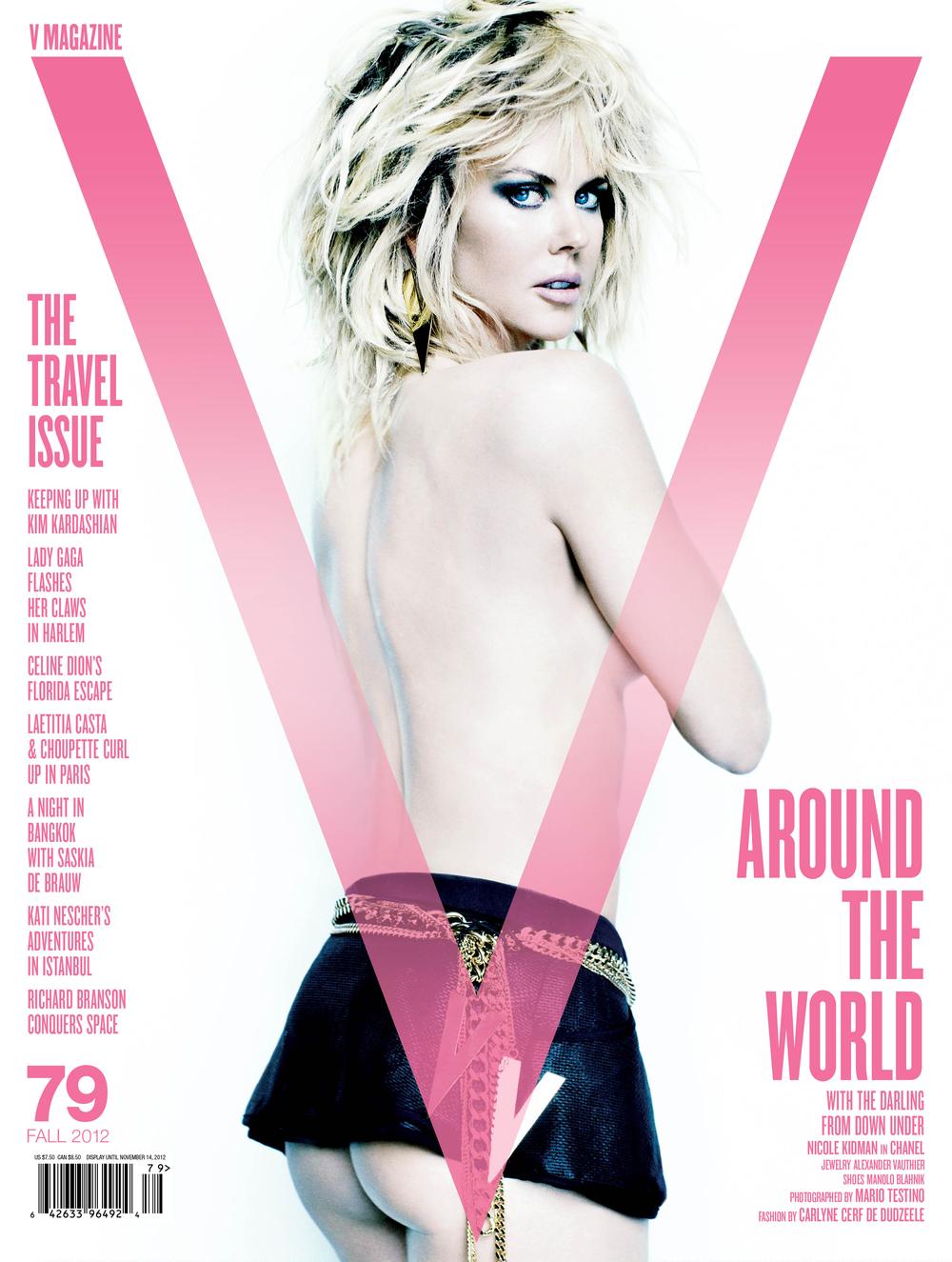 Nicole Kidmanw stylizacji Carlyne Cerf de Dudzeele dla V Magazine