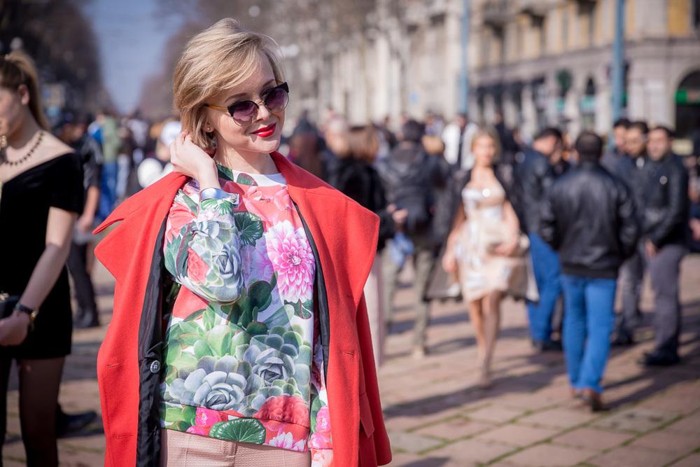Rosyjska stylistka Darya Kamalova, prowadząca blog modowy TheCabLook.com/fot. Marco Antinori dla Do You Know Fashion