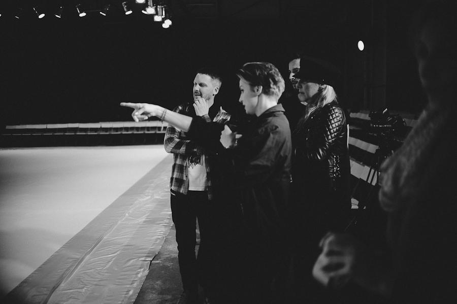 Mariusz Przybylski, Kasia Sokołowska, reżyser pokazu oraz Marta Kalinowska, stylistka pokazu/fot. Artur Cieślakowski dla Do You Know Fashion