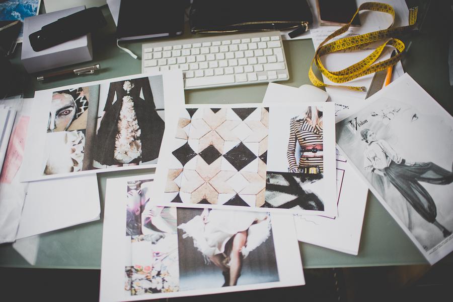 Moodboard projektanta/fot. Artur Cieślakowski dla Do You Know Fashion