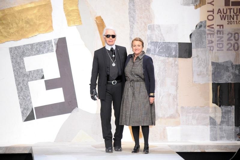 Karl Lagerfeld i Silvia Fendi/fot. Agencja FORUM