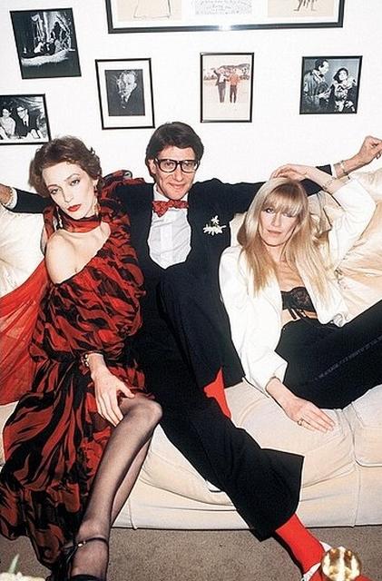 Loulou De Falaise, Saint Laurent oraz Betty Catroux/ mat. prasowe VUE Movie