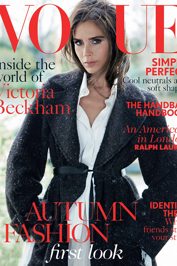 Victoria Beckham na okładce Vogue UK/ mat. prasowe/Vogue UK
