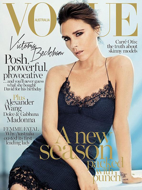 Victoria Beckham na okładce Vogue Australia/ mat. prasowe/Vogue Australia