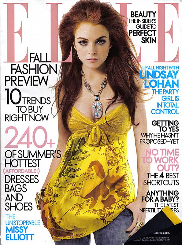 Lindsay Lohan na okładce Elle/mat. prasowe/Elle