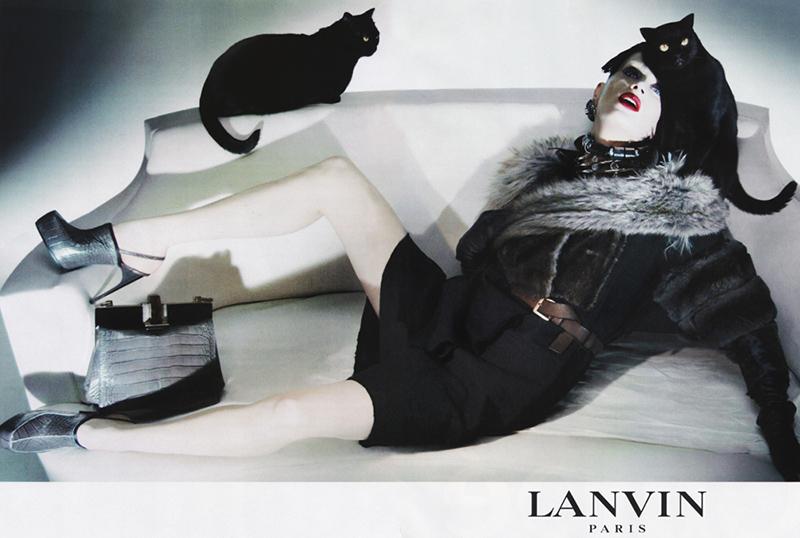 Kampania Lanvin jesień-zima 2009/2010/mat. promocyjne Lanvin
