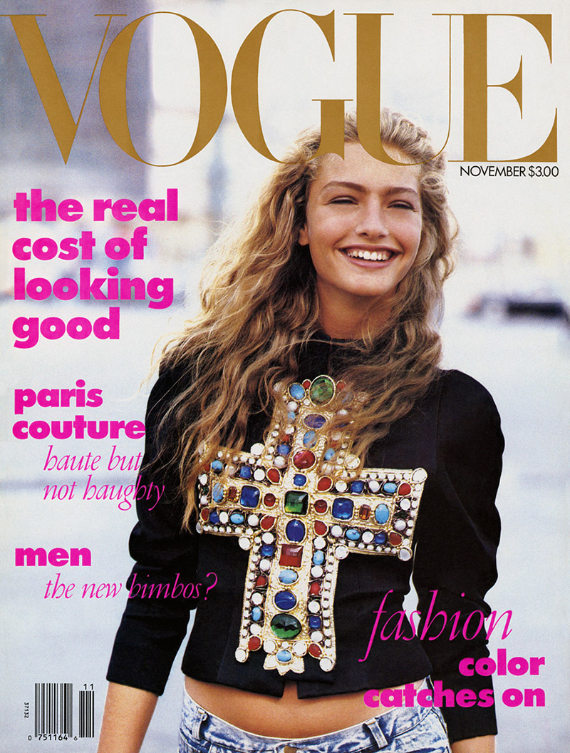 Okładka amerykańskiego Vogue'a z 1988 roku. Zdjęcia: Peter Lindbergh/mat. prasowe/Vogue