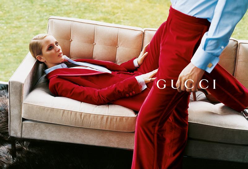 Kampania Gucci na sezon jesień-zima 1996/1997. Zdjęcia:Mario Testino/mat. promocyjne Gucci