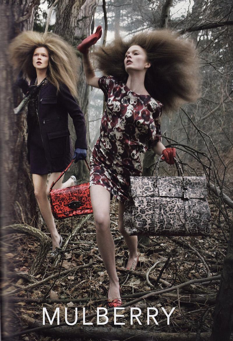 Kampania Mulberryna sezon jesień-zima 2009/2010. Zdjęcia:Steven Meisel/mat. promocyjne Mulberry