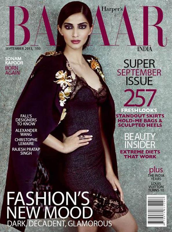Płaszcz Ungaro z kolekcji jesień-zima 2013 na okładce  Harper's Bazaar India  / mat. prasoweHarper's Bazaar India