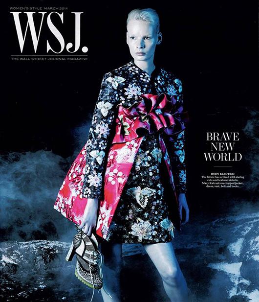 Sukienka Mary Katrantzou na okładce The Wall Street Journal/mat. prasowe The Wall Street Journal