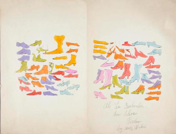 grafika: Andy Warhol, A la Recherche du Shoe Perdu /mat. promocyjne Christie's London