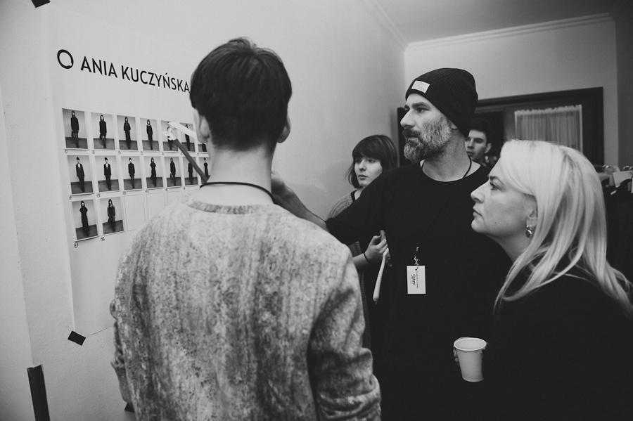 Andrzej Sobolewski, stylista pokazu i Ania Kuczyńska/fot. Artur Cieślakowski dla DYKF
