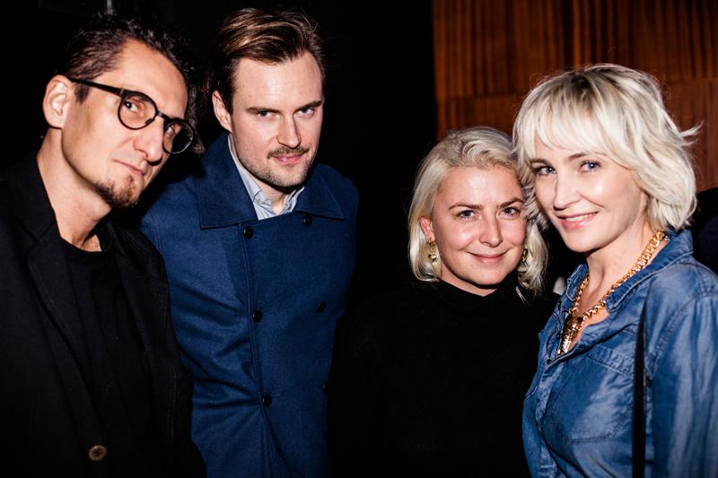 Michał Łojewski - UEG, Bartek Kraciuk - właściciel klubu Syreni Śpiew, Ania Kuczyńska i Anna Puślecka - redaktor naczelna DYKF