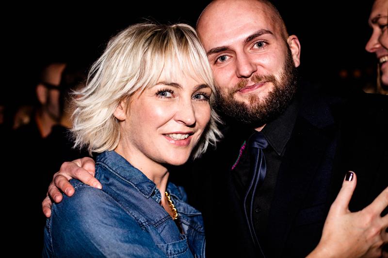 Anna Puślecka, red. nacz DYKF i Tomasz-Marcin Wrona/fot. Eliza Krakówka dla DYKF
