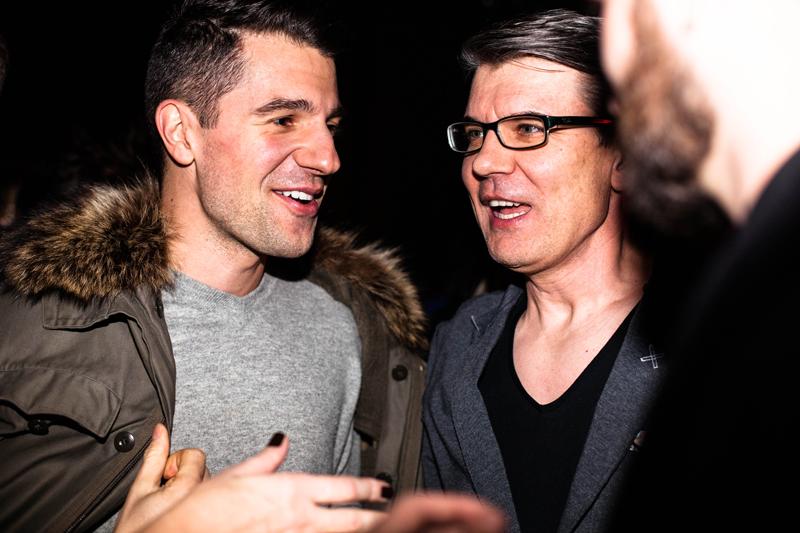 Projektant Michael Hekmat (Blessus) i Jacek Badurek - choreograf i reżyser pokazów mody/fot. Eliza Krakówka dla DYKF