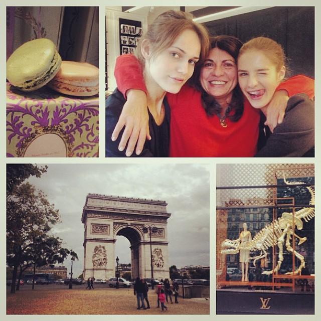 Słoneczny Paryż, znów w pracy, razem z Karoliną Wąż (także z agencji New Age Models) i agentką Mimi z ELITE PARIS