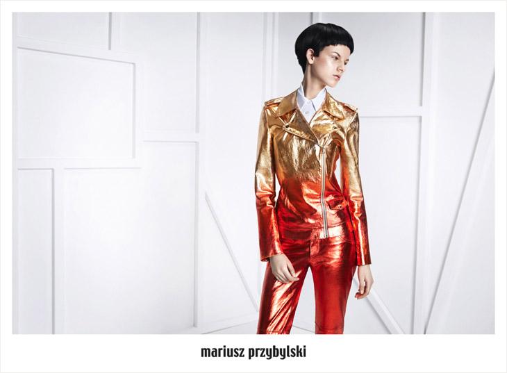 Joanna Tatarka/Vox Models w kampanii jesień-zima 2013/14 Mariusza Przybylskiego