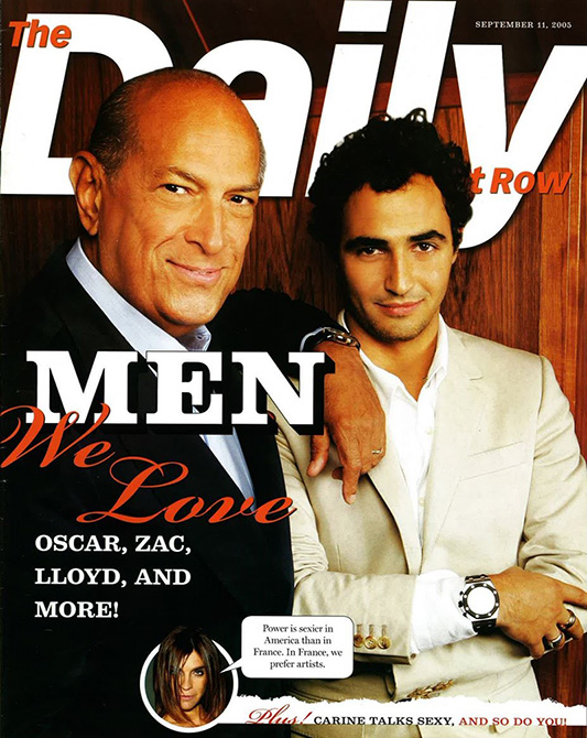 Oscar de la Renta i Zac Posen na okładce The Daily
