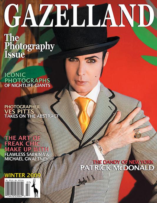 Patrick McDonald na okładce magazynu Gazelland