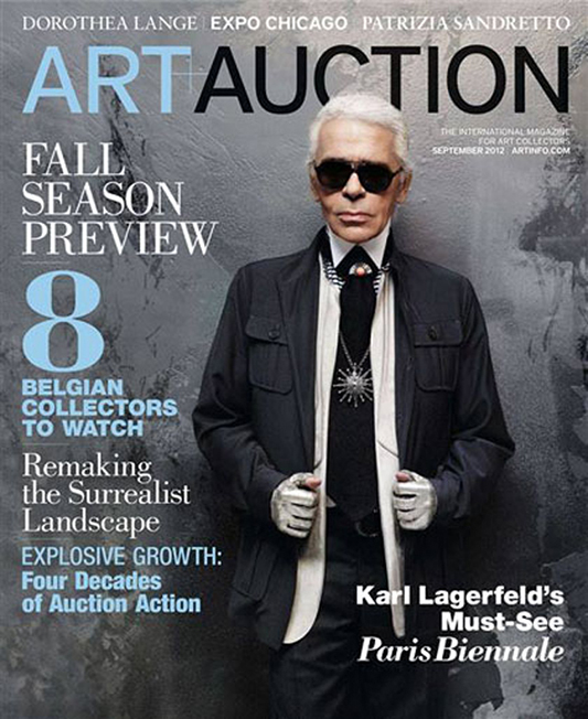 Karl Lagerfeld na okładce Art+Auction