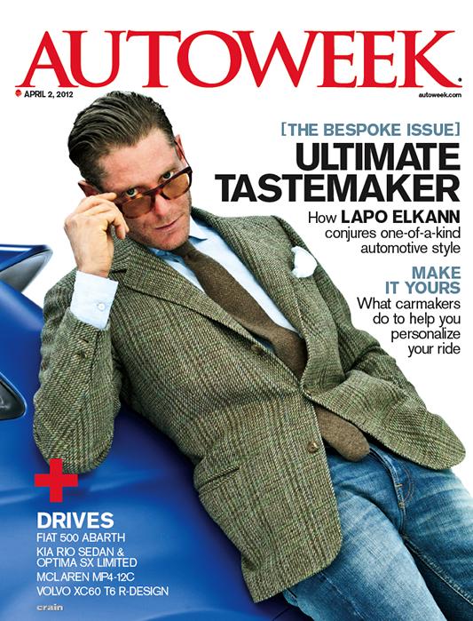 Lapo Elkann na okładce Autoweek