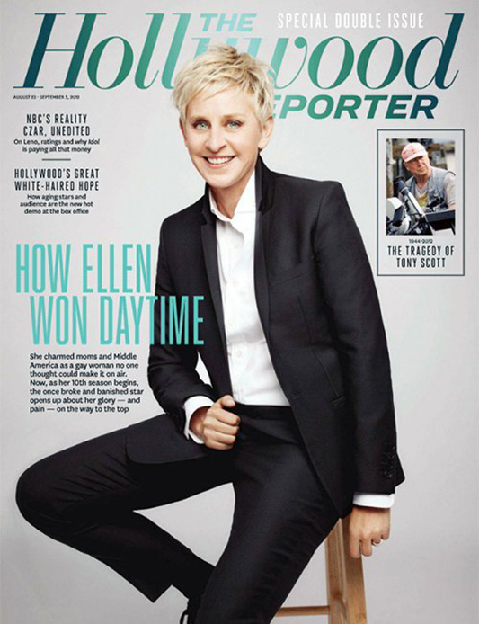 Ellen De Generes na okładce The Hollywood reporter