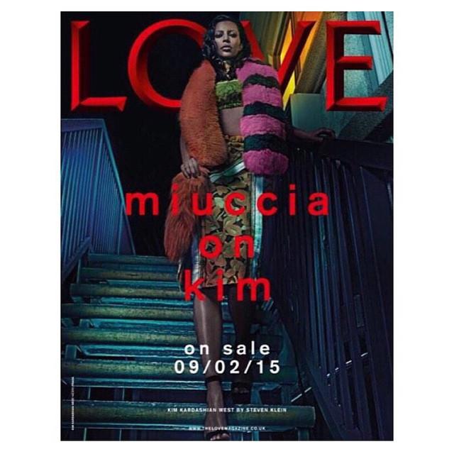 Kim Kardashian na okładce LOVE Magazine/Instagram: @kimkardashian